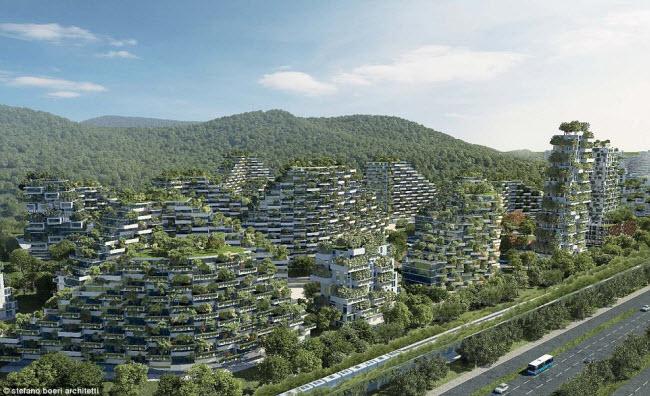 Dự án, do công ty Stefano Boeri Architetti có trụ sở ở Italia thiết kế, sẽ là nơi sinh sống của 300.000 người khi hoàn thành vào năm 2020.