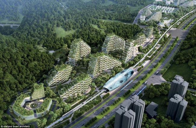 Thành phố rừng Liễu Châu được xây dựng tại khu thắng cảnh Karst cạnh sông Quế Giang ở tỉnh Quảng Tây, Trung Quốc. Đây được coi là thành phố xanh nhất thế giới khi hoàn thành.