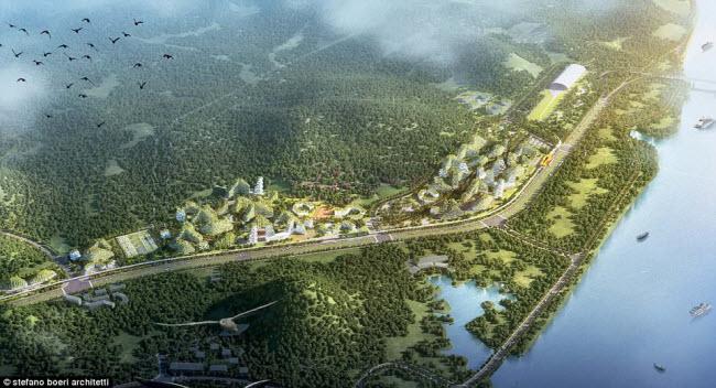 Các khu dân cư, văn phòng, khách sạn, bệnh viện và trường học tại thành phố mới sẽ được bao phủ bởi gần 1 triệu cây bụi và hoa cùng 40.000 cây lớn.