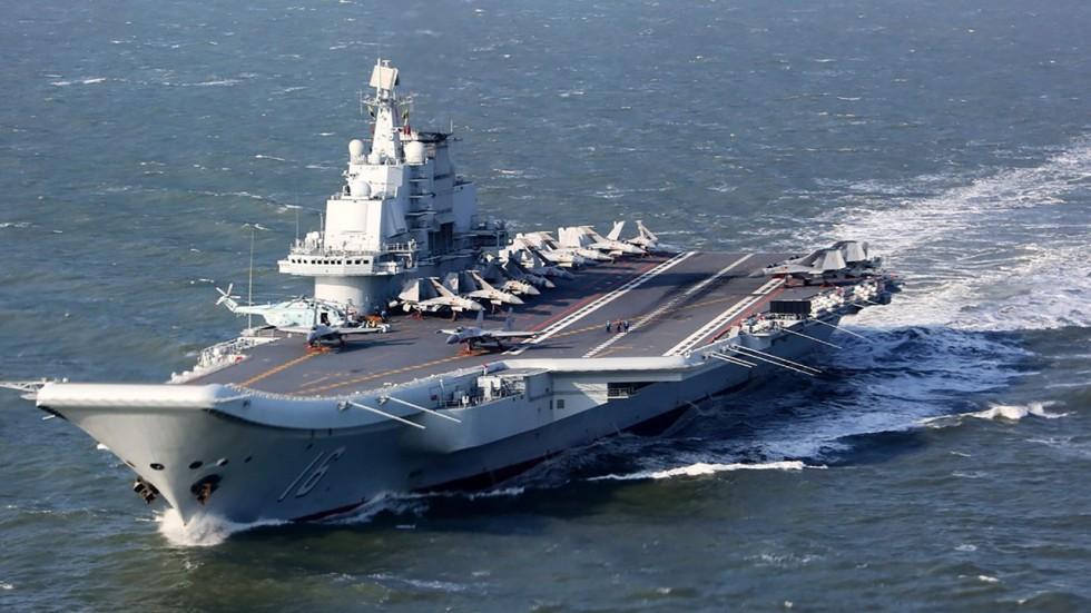 Đội tàu sân bay Trung Quốc xuất hiện ở eo biển Đài Loan - 1