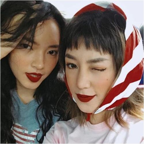 Hè về, các hotgirl Việt vẫn mê mẩn son đỏ trầm - 2