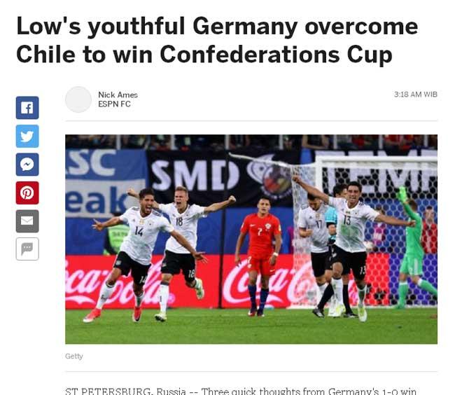 """Đức giành Confed Cup, báo quốc tế tiếc suýt """"ăn ba"""" - 2"""