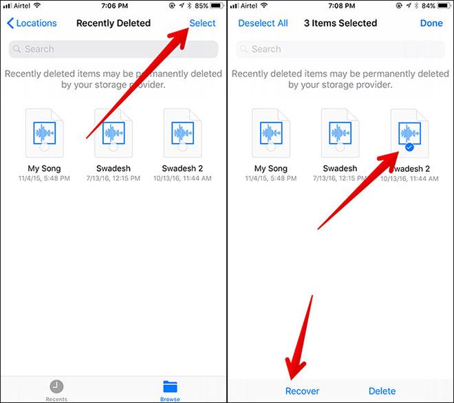 Phục hồi dữ liệu đã xóa bằng ứng dụng Files trên iOS 11 - 1