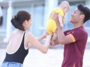 """Mạc Hồng Quân và vợ con  """" náo loạn """"  The Face Việt"""