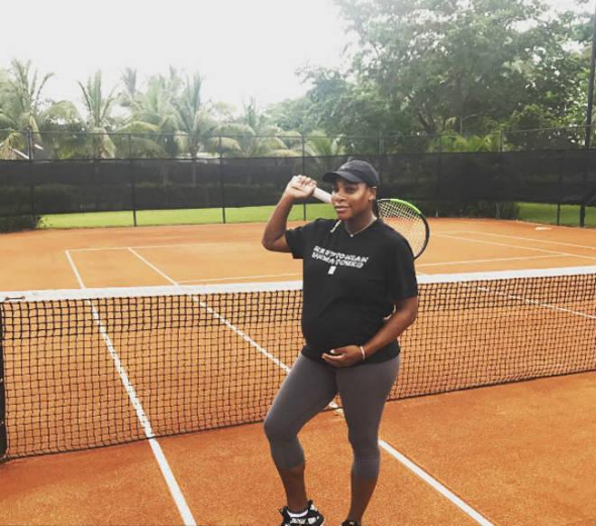 Tin nóng Wimbledon ngày 2: Bà bầu 4 tháng dũng cảm thi đấu - 4