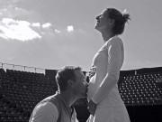 Tin nóng Wimbledon ngày 2: Bà bầu 4 tháng dũng cảm thi đấu