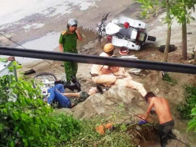 Trung tá CSGT Phú Thọ bị xe đâm đã tử vong