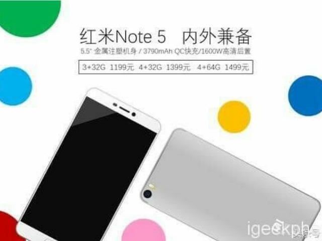 Rò rỉ cấu hình Xiaomi Redmi Note 5 giá rẻ