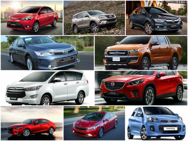 10 mẫu xe bán chạy nhất Việt Nam tháng 6/2017