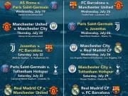 Lịch thi đấu bóng đá - Lịch thi đấu bóng đá International Champions Cup 2017