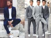 Thời trang - Quý ông sành điệu phải mặc veston với giày thể thao!