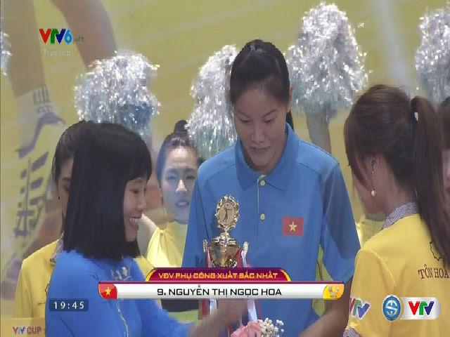Bóng chuyền VTV Cup: Hoa khôi của xứ Hàn, Ngọc Hoa được vinh danh