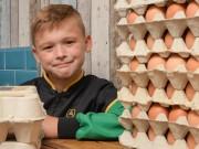 Tài chính - Bất động sản - Cậu nhóc 8 tuổi mở doanh nghiệp bán trứng mong thành triệu phú
