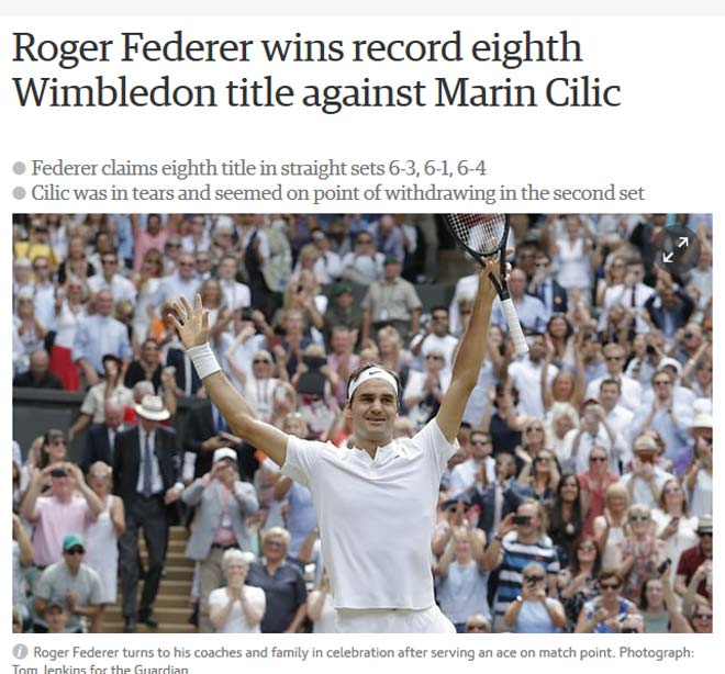 Báo chí thế giới cạn lời khen Federer, fan gọi là người ngoài hành tinh - ảnh 2