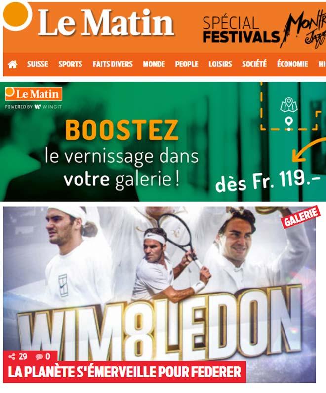 Báo chí thế giới cạn lời khen Federer, fan gọi là người ngoài hành tinh - ảnh 3