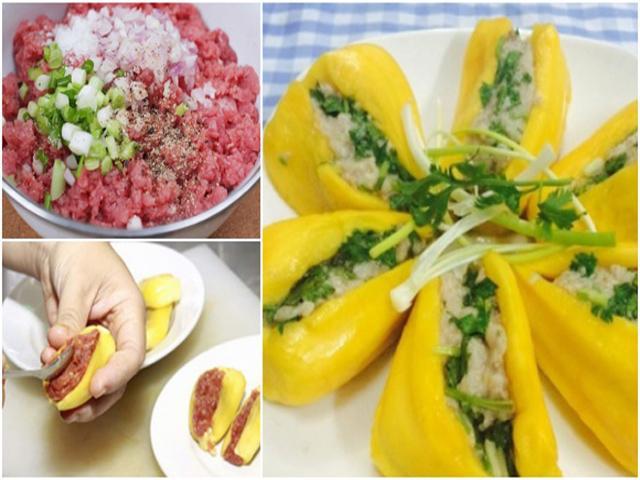 Ngày mưa, ăn món mít chín nhồi thịt hấp - lạ và ngon