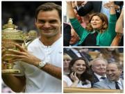 Vô địch Wimbledon: VUA Federer ôm hôn người đẹp Mirka thắm thiết