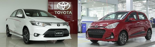 Toyota Vios hay Hyundai Grand i10 là mẫu xe bán chạy nhất?