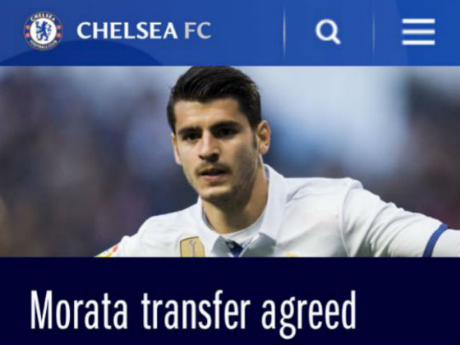 Chuyển nhượng Real 20/7: Chelsea xác nhận mua Morata 75 triệu bảng