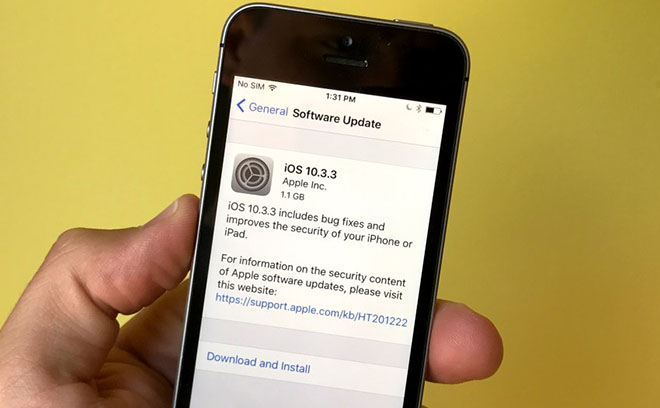 Hướng dẫn từng bước cài đặt iOS 10.3.3 qua iTunes hoặc OTA - 1