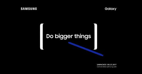 CHÍNH THỨC: Samsung gửi thư mời sự kiện Galaxy Note 8 - 1