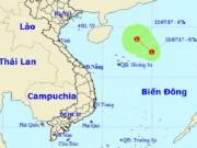 Xuất hiện vùng áp thấp đang mạnh dần lên trên Biển Đông