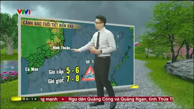 Dự báo thời tiết VTV 22/7: Áp thấp nhiệt đới giật cấp 9, tiến gần Hoàng Sa