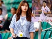 """Nữ phóng viên xinh đẹp Hàn Quốc  """" phải lòng """"  Công Phượng"""