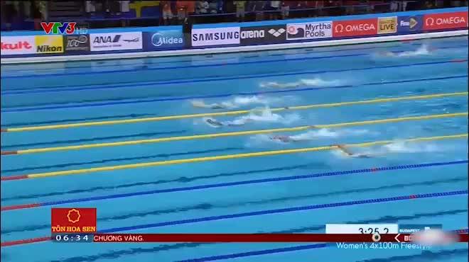 """""""Michael Phelps"""" nữ bơi """"xé nước"""" phá kỷ lục 100 năm"""