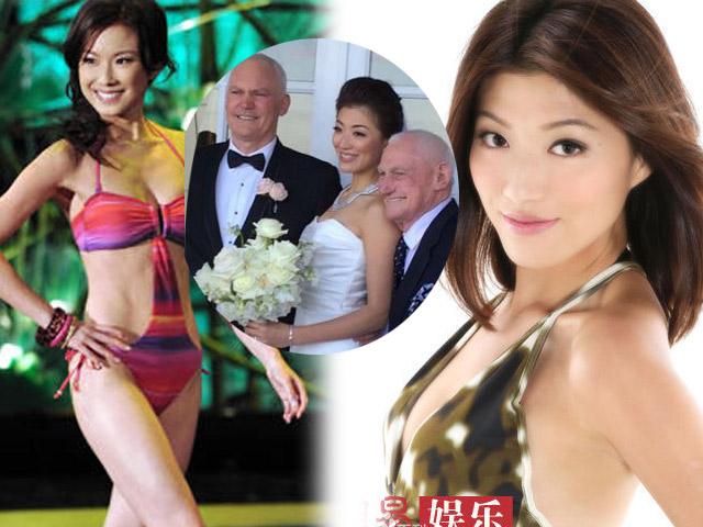 Á hậu Hồng Kông xinh như mộng lấy chồng Tây già nua