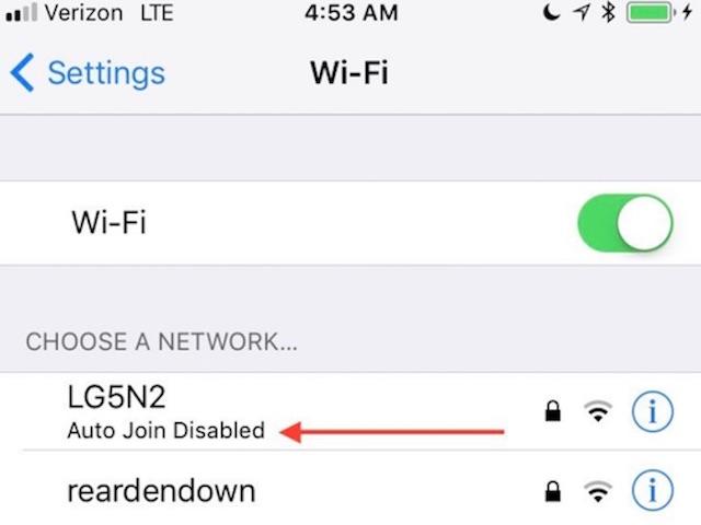 iOS 11 ngăn iPhone nối mạng Wi-Fi yếu