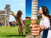 Thánh sống ảo như bắt được vàng khi thấy tháp nghiêng Pisa