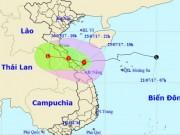 Bão số 4 áp sát đất liền, Thanh Hóa - Quảng Nam đang mưa to