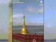 Lũ lớn  nuốt chửng  chùa vàng ở Myanmar
