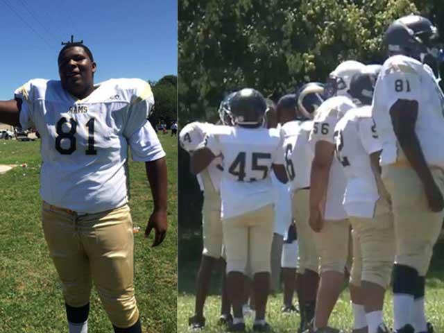 """Gã khổng lồ 7 tuổi, cao 1m75 nặng 77kg: 1 mình """"cân"""" cả đội bạn - 1"""