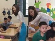 Cô giáo tiểu học xinh như hot girl ở Hà Nội gây sốt