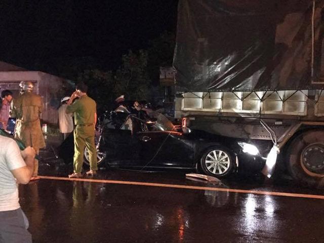 Thông tin mới vụ 2 công an tử vong trên xe Camry