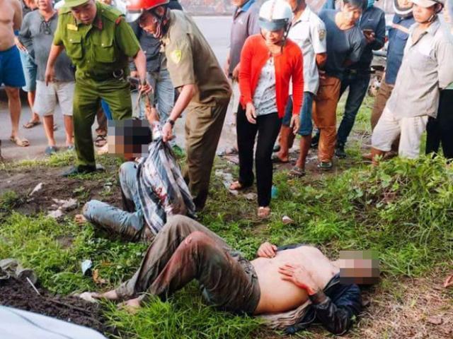 Clip: Dân vây đánh 2 thanh niên nghi trộm chó trốn dưới kênh nước - 2