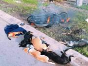 Tin tức trong ngày - Người dân đốt xe, đánh tơi bời 2 đối tượng nghi trộm chó