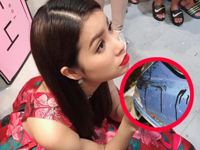 Phạm Hương mới khai trương quán trà sữa bị kẻ lạ tạt sơn, mắm tôm