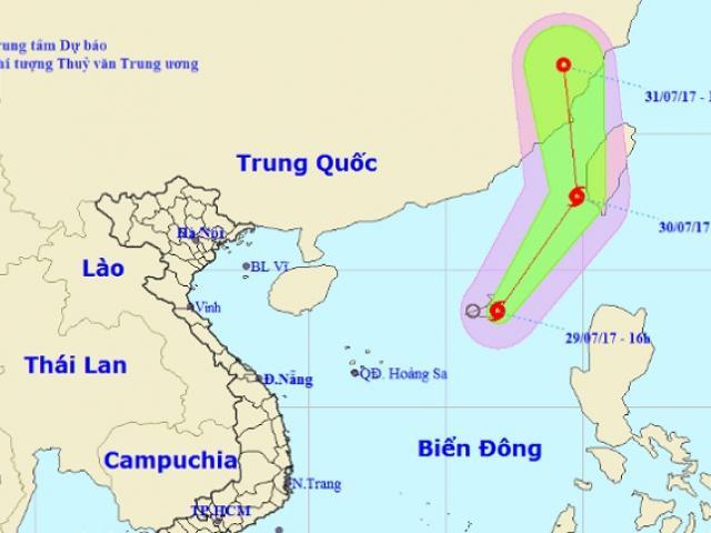 Áp thấp nhiệt đới mạnh lên thành bão, Nam Bộ có mưa dông