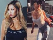 Rapper dao kéo hỏng xứ Hàn nghiện khoe vòng 1 nâng cấp