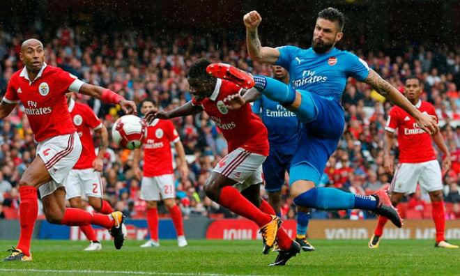 """Arsenal - Benfica: Đuối sức và lĩnh 3 """"cú đấm"""" chí tử"""
