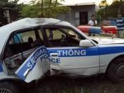 An ninh Xã hội - Xe CSGT Quảng Ninh lật nhào khi truy đuổi tội phạm ma túy