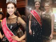 Thời trang - Đỗ Mỹ Linh đẹp lấn át Hoa hậu Hoàn vũ thế giới 2015