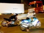"""Tin tức trong ngày - CSGT TP.HCM nói về vụ """"quái xế"""" chặn xe container để đua"""