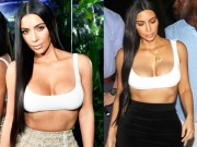 """Thời trang - Choáng với áo ngắn vỏn vẹn 5cm của cô Kim """"siêu vòng 3"""""""