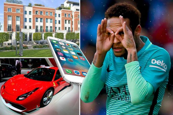Neymar 6000 tỷ đồng: Mua 300 nghìn IPhone 7s, thuê Ronaldo 40 ngày - 1
