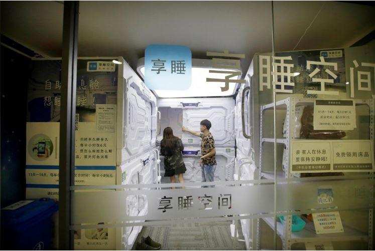 """Có gì trong """"khách sạn tổ kén"""" cho dân văn phòng ngủ trưa ở Trung Quốc? - 11"""