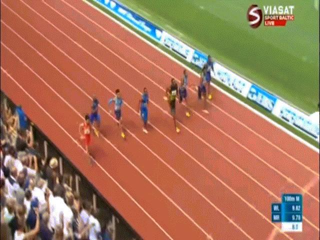 """Usain Bolt về nhất, vẫn thất vọng vì bản thân """"quá chậm"""" - 10"""